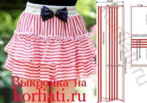 Как-сшить-юбку-для-девочки