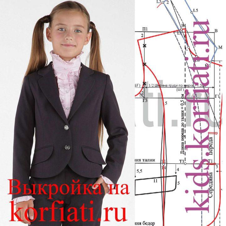 Выкройки жилета для девочки в школу