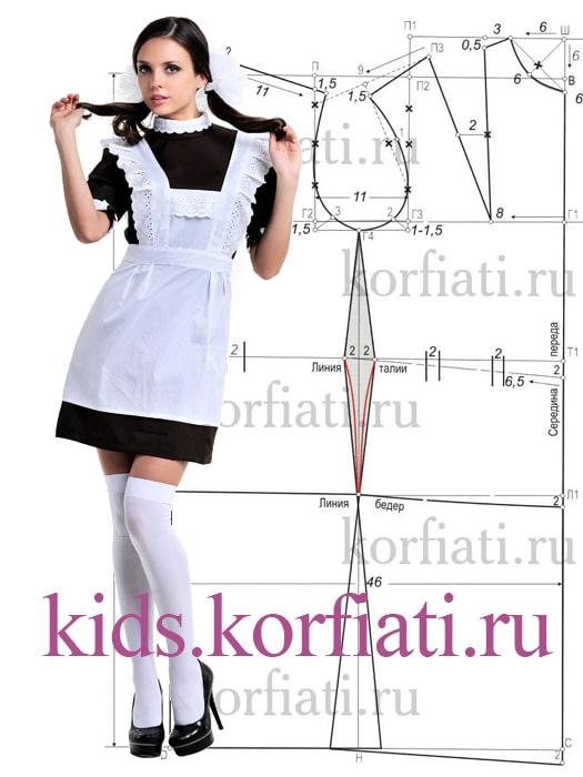 Выкройка блузки для девочки 38 размер фото 953