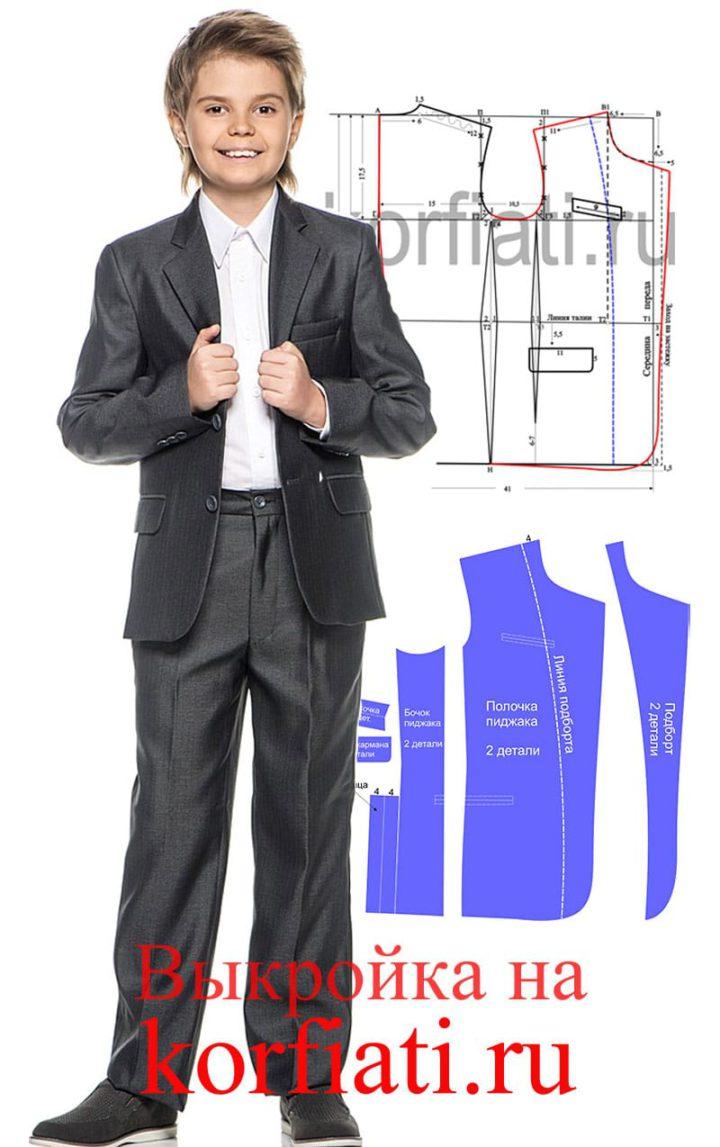 Выкройка пиджака для мальчика