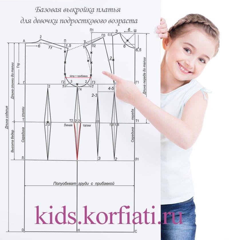 4cd721ba5e8 Выкройка платья для девочки-подростка от А. Корфиати