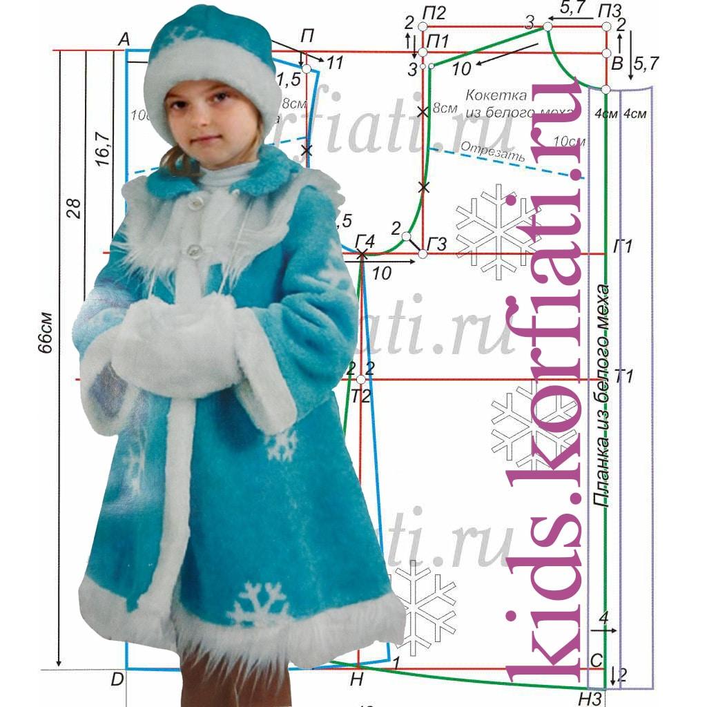 Новогодние костюм для девочки сшить своими руками 466
