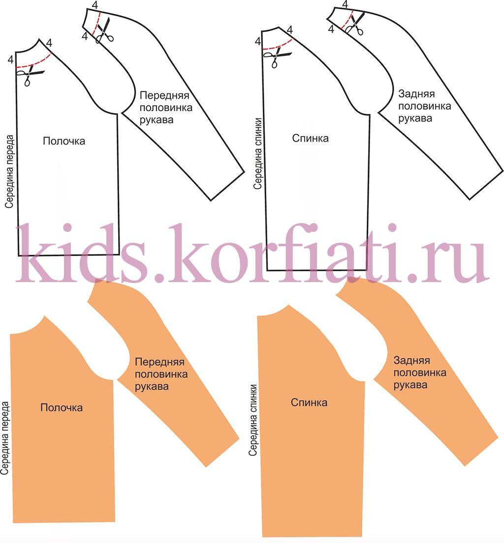 Как сделать выкройки детских рукавов фонариков