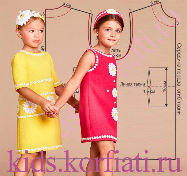 Выкройки трикотажные платья детские
