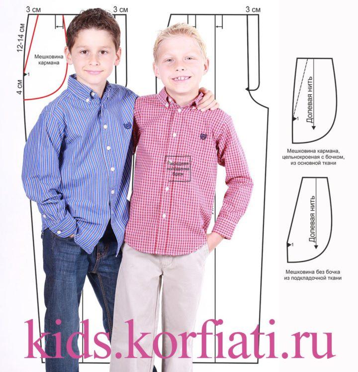 Выкройка детских брюк