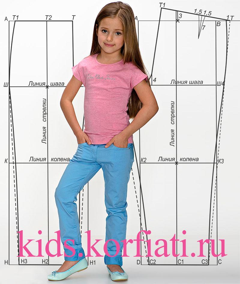 Шьем брюки для девочки