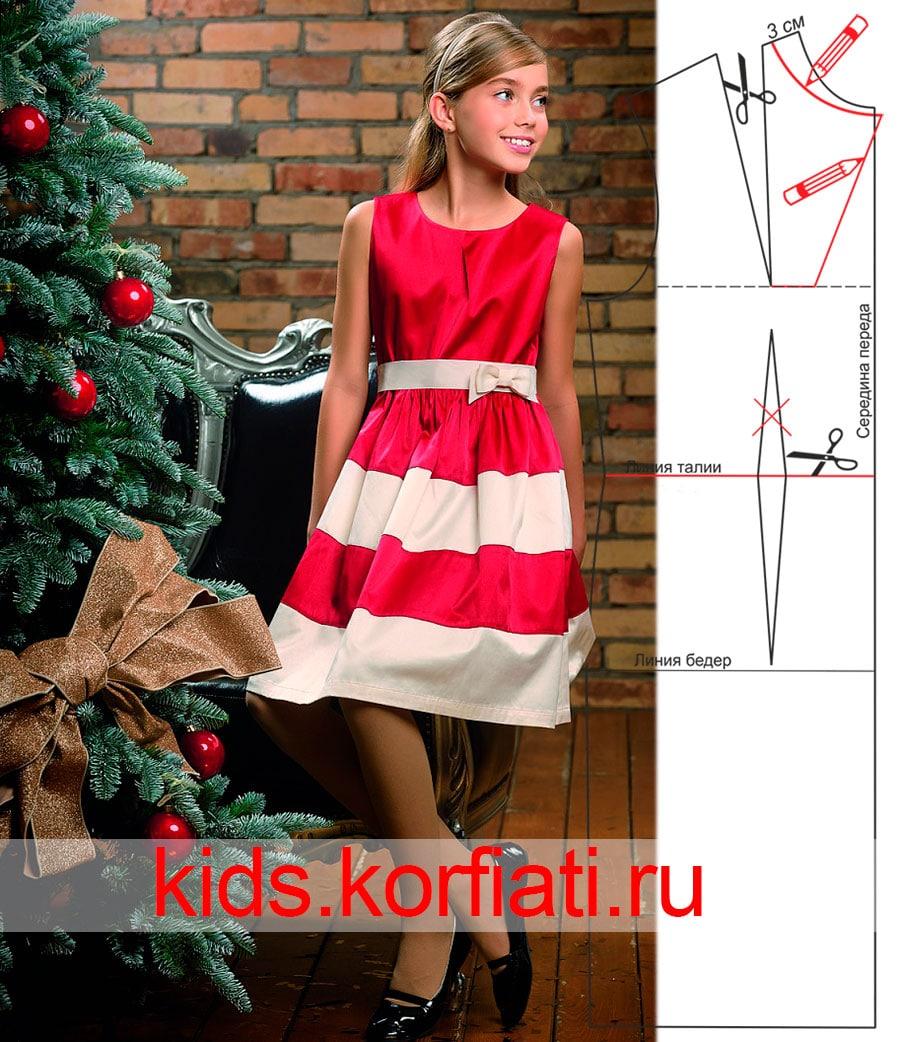 Платье на девочку из ткани выкройки фото 363
