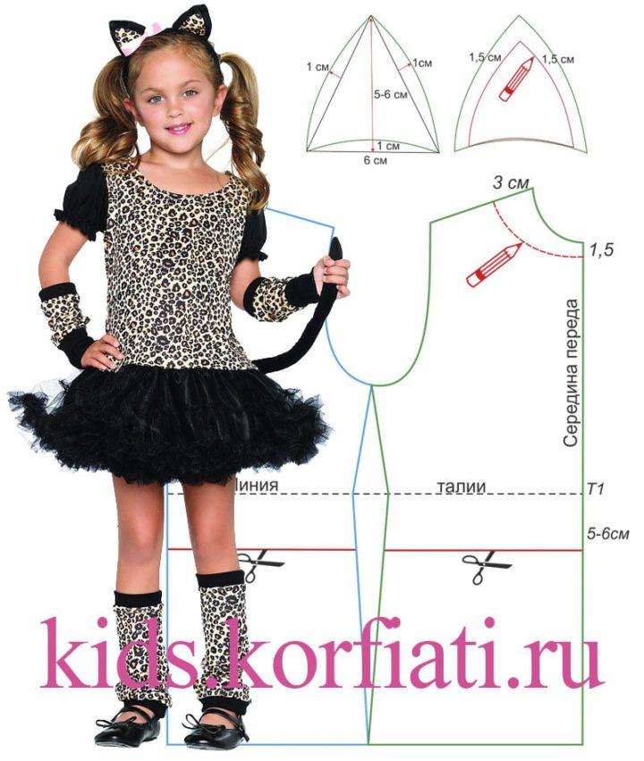 Карнавальный костюм кошки для девочки