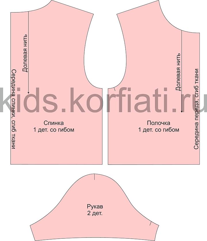 Выкройка футболки для девочки