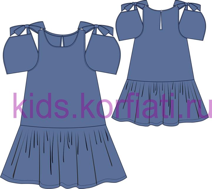 Эскиз модели летнего платья для девочки