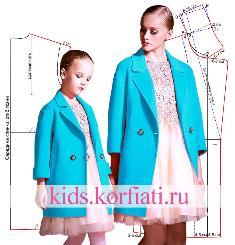Caot-for-girl-pattern Как сшить пальто для девочки своими руками