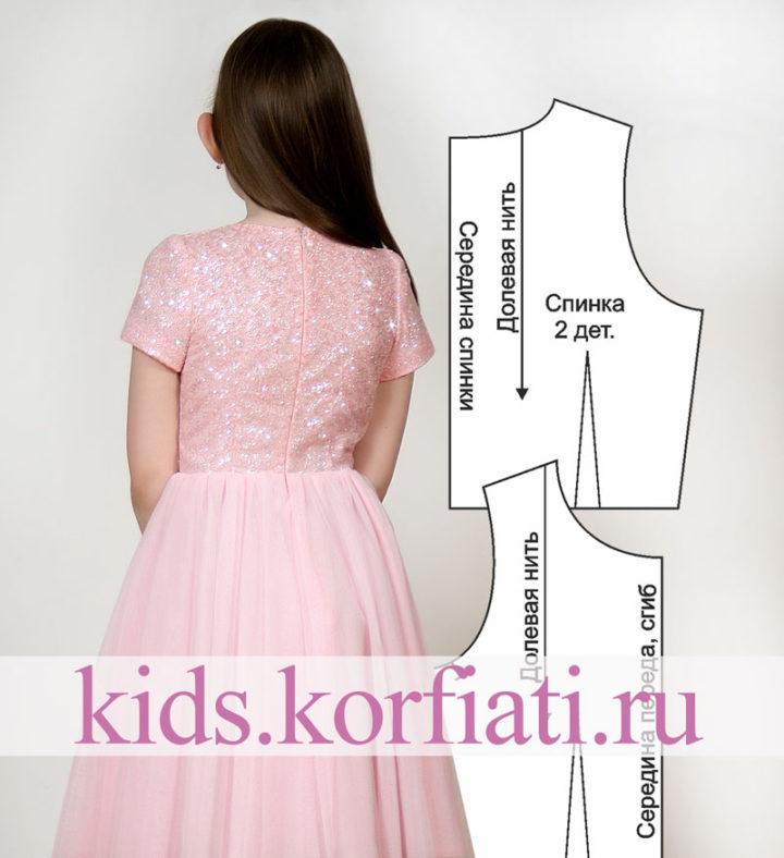 Выкройка платья из глиттера и фатина