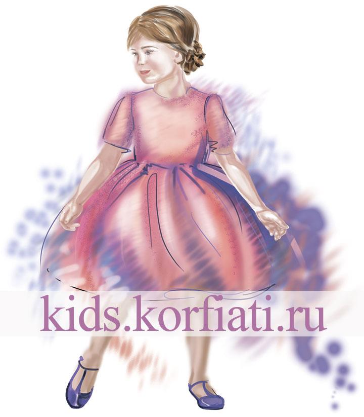 Эскиз платья из глиттера