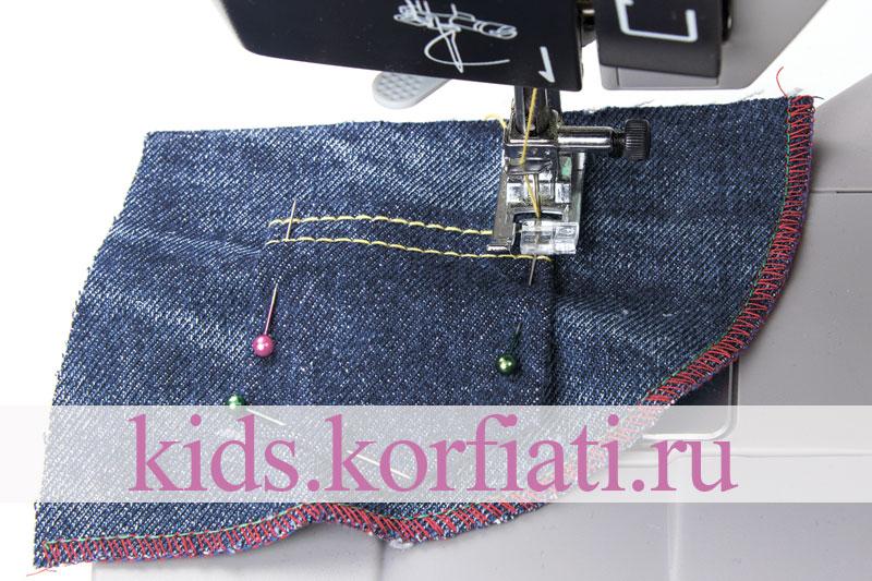Пошаговая технология обработки боковых карманов на джинсах