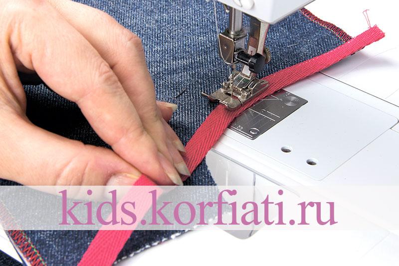 Детские джинсы - технология обработки бокового кармана