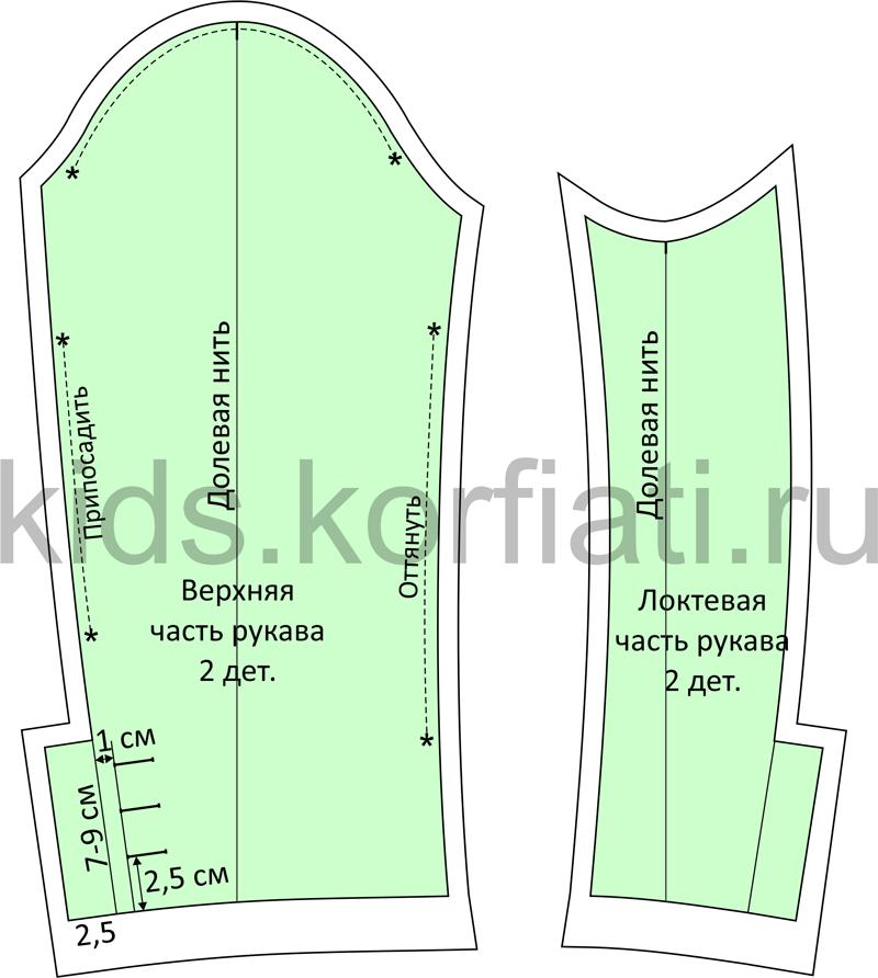 Моделирование двухшовного рукава - детали